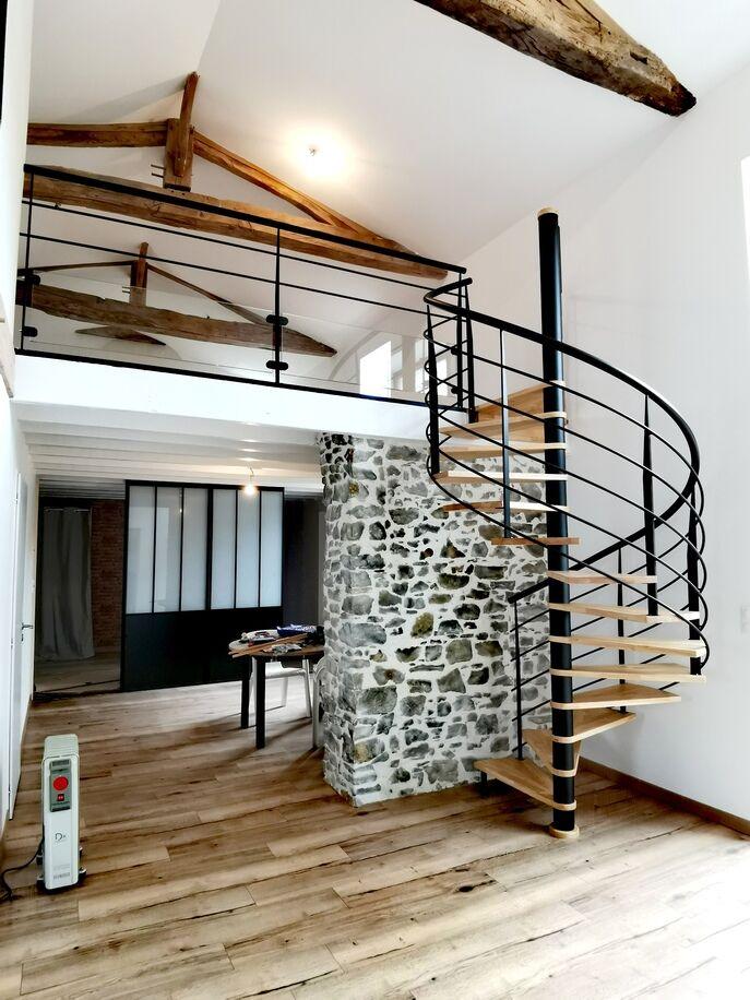 Verrière et escalier hélicoïdal - ABEG